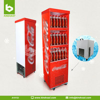 supermarket sale cardboard floor stand drinks display Paper refrigerator