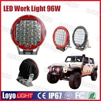 "Promotion led work light auto spare part 9 inch 9"" offroad 12V-24V Waterproof 9"" 96w LED work light"