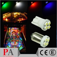 T10 #555 Ba9s LED Pinball LED Light Lamps Various Colors Auto Light Car Lamps Ba9s #44 #47 AC DC 6.3V For Dashboard Game Machine