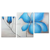 flower canvas 3 panel painting