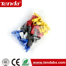 Comercio al por mayor cable red heads rj-45 rj45 botas caps cat5 cat6 <span class=keywords><strong>conector</strong></span> modular