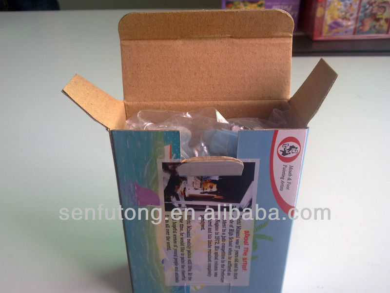 Thin flute toy paper carton