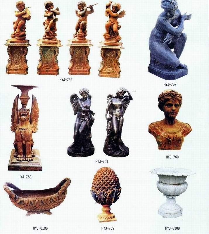 Estatua del jard n de hierro fundido esculturas estatuas - Estatuas de jardin ...