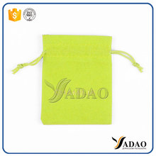 Luxury jewelry stain packaging pouch in green customized colors custom made jewelry pouches