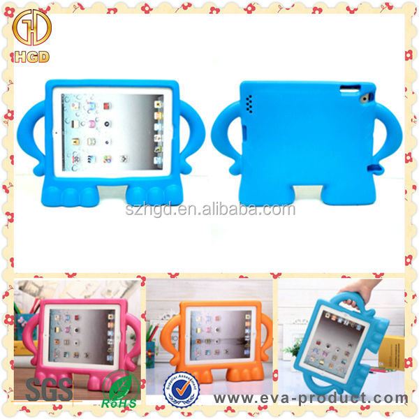 Fashion design light weight shockproof rugged tablet case for ipad 2/3/4