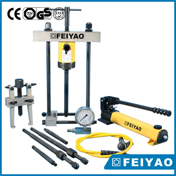 Car wheel bearing push and pull 15 ton tool hydraulic grip pullers sets