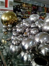 Stainless steel hollow ball decoration, mirror-polished surface light 201 balls