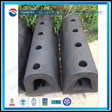 Semi-Cylindrecal Rubber Fenders D Type