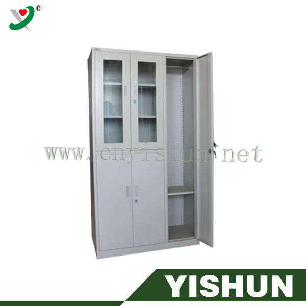 Combination Office unfinished furniture corner cabinet steel cupboard for clothes /metal locker