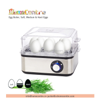 Electric Stainless Steel Egg Cooker Boiler Breakfast 8 Eggs, Soft, medium and Hard Eggs
