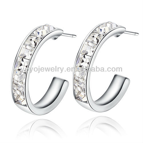 CZ men stud cheap wholesale fashion jewelry retro alloy earrings