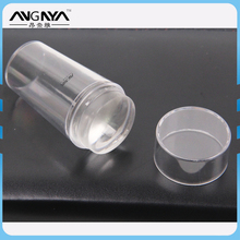 Factory Supply Clear Short Silicone Clear Plastic Handle Nail Art Stamping Kit