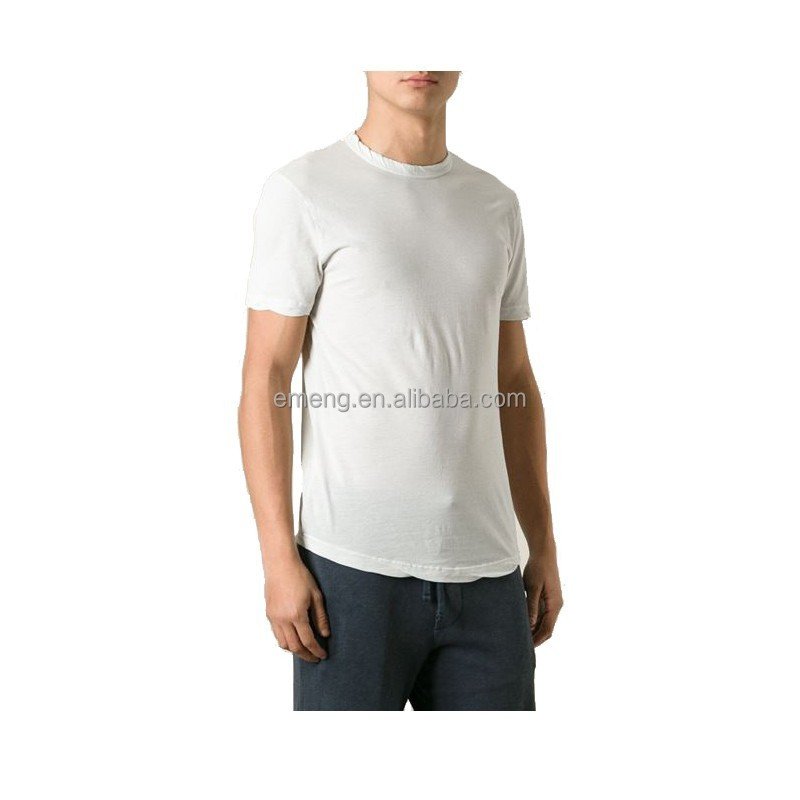 2017 Wholesale Bulk 100 Cotton Mens T shirts Plain in White