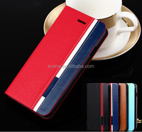 Contrast color Fashion PU Leather Wallet Flip Mobile Phone Case Cover For Huawei U8660