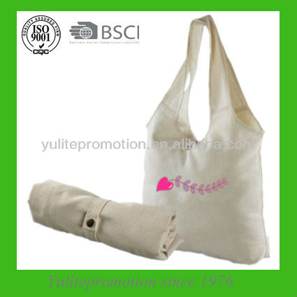 2014 new design cotton foldable sling bag