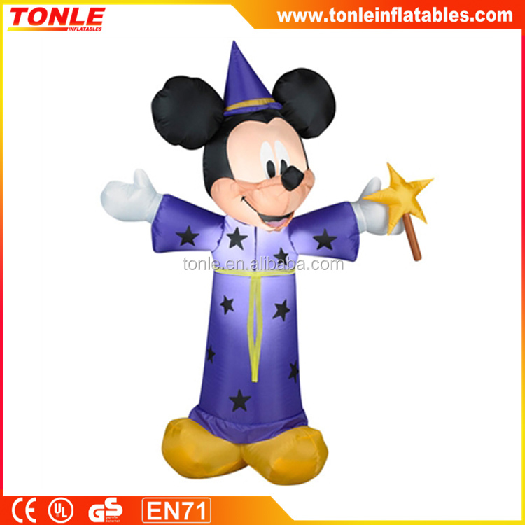 halloween inflatable decoration Mickey Wizard for sale