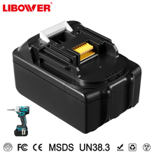 Libower Makitas 18v 3ah/4ah/5ah/6ah Lithium Battery Rechargeable Batteries for BL1830, BL1840,BL1850 194205-3,194309-1 Battery