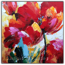 Art Decoration Modern Flower Painting With Acrylic on canvas