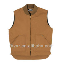 winter sleeveless cotton quilted FR men vest working vest