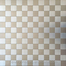 Brushed Aluminium mosaic tiles peel and stick instant mosaic