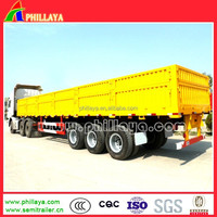 3 Axles 60 ton cargo trailer / China vehicle trailers manufacturer /multi-use 20ft 40ft container transport+bulk cargo+mahchine