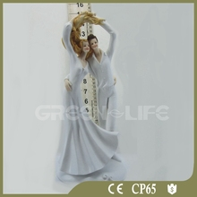 Bride & Groom Resin Doll Wedding Couple Cake Topper Engagement Ceremony Figurine Decoration
