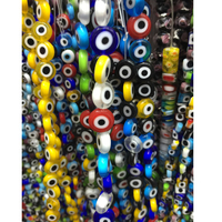 Wholesale 6MM 8MM 10MM 12MM Oblate Round Evil Eye Beads Flat Crystal Lampwork Glass Beads