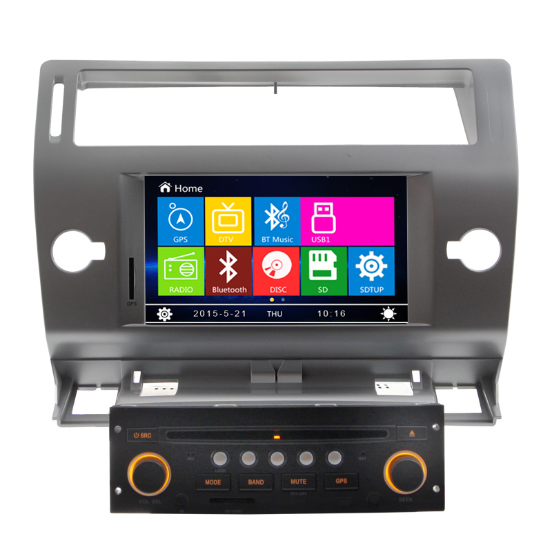 2 Din Auto Radio DVD GPS Navigation for Citroen C4 2004 2005 2006 2007 2008 2009 2010 2011 with RDS AM FM USB
