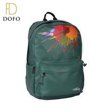 Fashion custom high-capacity anti theft school leather backpack