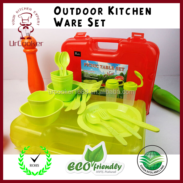 High quality outdoor food grade durable plastic dinnerware set for kids