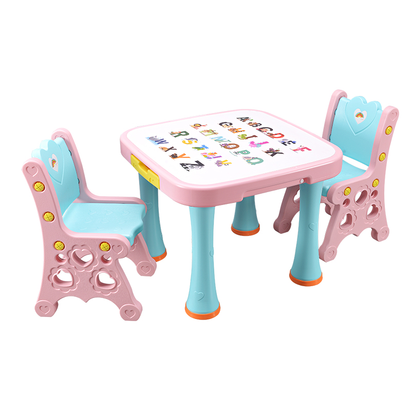 kids and childrens plastic table and chair set