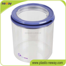 300ml food grade plastic milk drinking jar with lid and straw