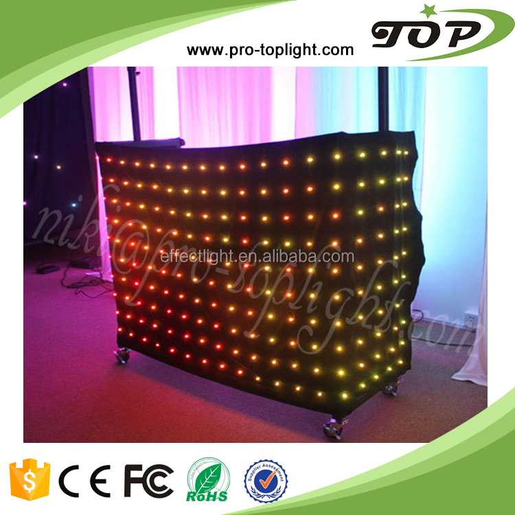 nightclub decoration led dj booth / led curtain wall light