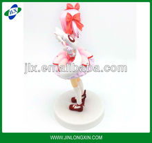 The fox girl Lovely doll Pink skirt beauty model resin kit figure woman sexy nude