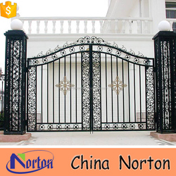 popular simple wrought iron gate designs for home NTIRG-020S