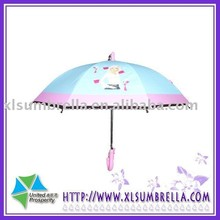 Safety system cartoon straight kid umbrella