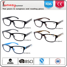 Wholesale injection low cost fashion dark color black frame reading glasses