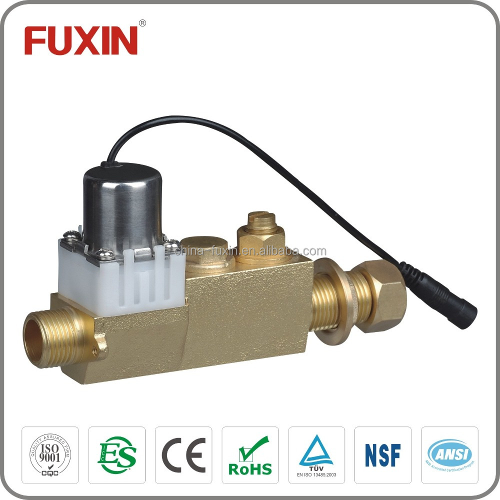 Sensor toilet flow control valve water brass electric for Motorized flow control valve