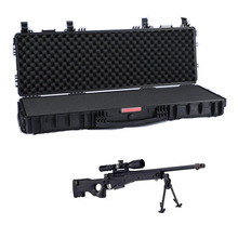 Hard plastic military waterproof gun case with wheels