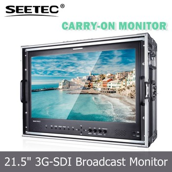 21.5 inch high quality portable IPS panel carry-on monitor with HD SDI input LED backlight for broadcast field