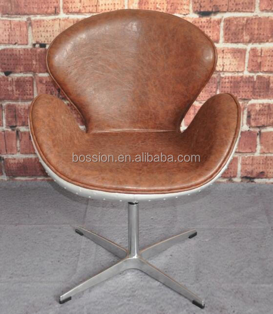 Classic vintage aluminium aviator Swan chair designer chair