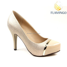 FLAMINGO 2015 LATEST ODM OEM elegant high heel pump shoes women dressing shoes bridal shoes