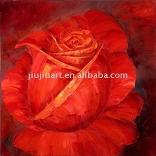 handmade oil painting drying flowers red rose painting