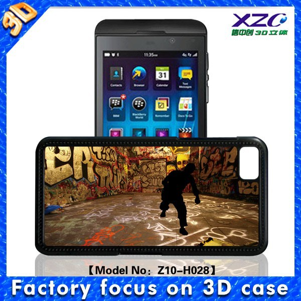 3D Morph effect design silicone case for BlackBerry Z10