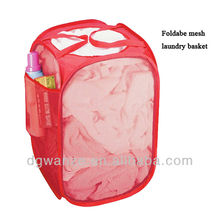 Foldable mesh bra laundry bag/basket with handles