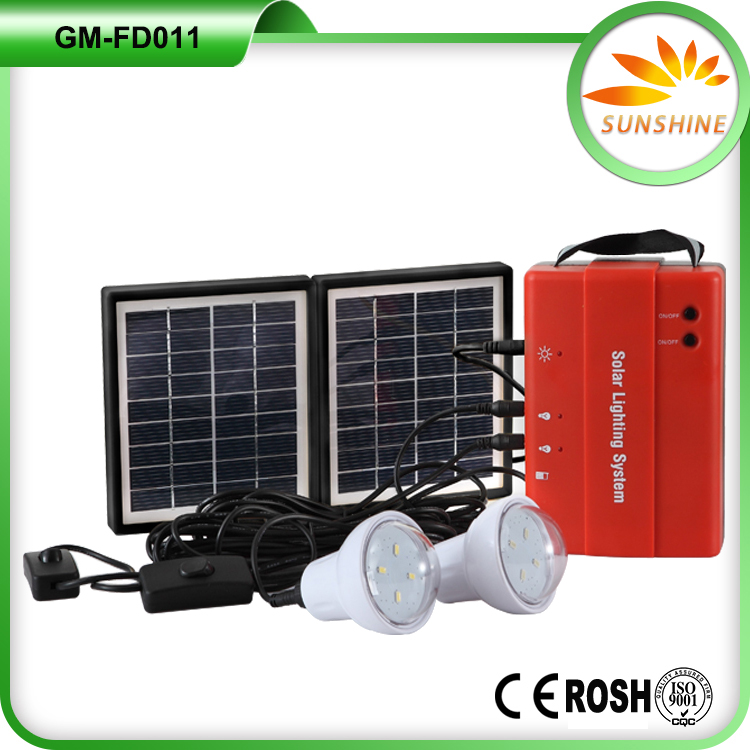 Energy saving China cheap portable 220v storage battery system indoor solar power lights