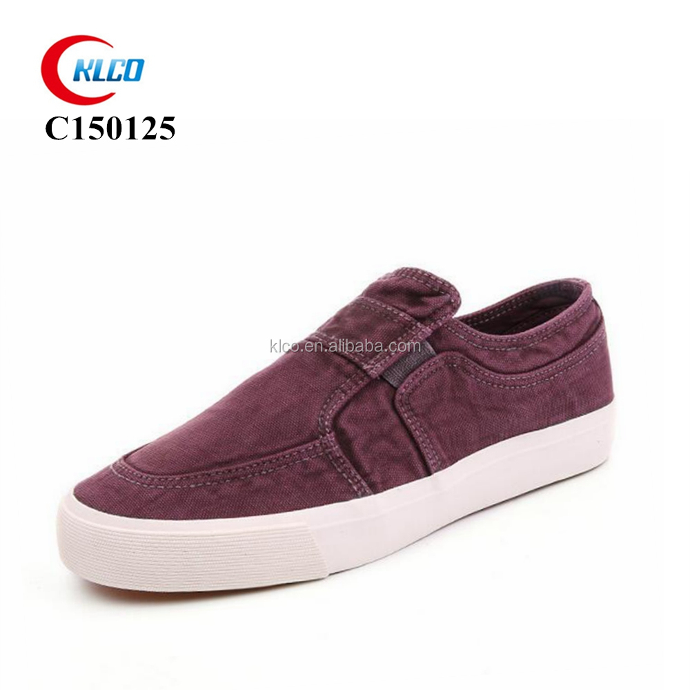 no lace loafer style men canvas slip-on shoes wholesale