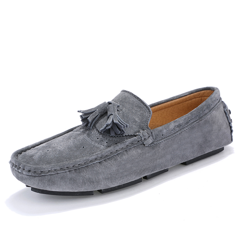New Men's Casual Slip-on Loafers Leather Flat Shoes Mens Boat Shoes Car Shoes Drop Shipping 9889
