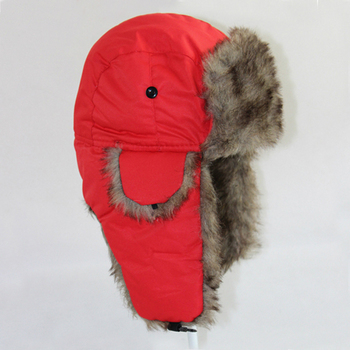 Unisex Faux Fur Winter Earflap Ushanka Cossack Cap Warm Trapper Aviator Hat