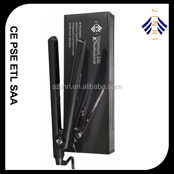 High technology hair styling iron straightener with led display